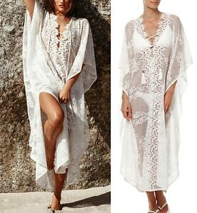 Vestito-Copricostume-Mare-Donna-Pizzo-Woman-Dress-Beach-Cover-Ups-Lace-COV0020