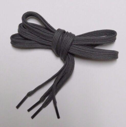 """54/"""" Charcoal Flat Shoelaces 100/% Cotton 45/"""""""