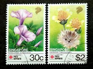 Singapore-1991-Phila-Nippon-039-91-30c-amp-2-2v-Used
