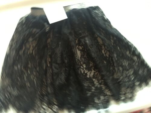 Girl Child Kid korea Black Lace Adorable Princess Party Dress sheer skirt 2-7yrs