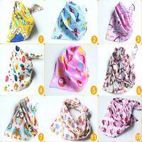 10 Styles Baby Kids Bandana Bibs Saliva Towels Dribble Triangle Child Head Scarf