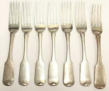 1815 Dublin Ireland 7x Sterling Silver Forks MATHEW WEST Armstrong Crests a/Mint
