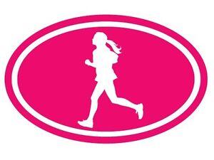 Running-Woman-Girl-Oval-Decal-Marathon-Run-Vinyl-Funny-Car-Truck-Bumper-Sticker