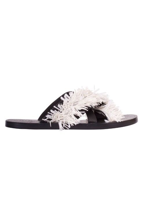 Ginger & and Sandal Smart: Tectonic Raffia Leather Slide Sandal and  $359 3437ff
