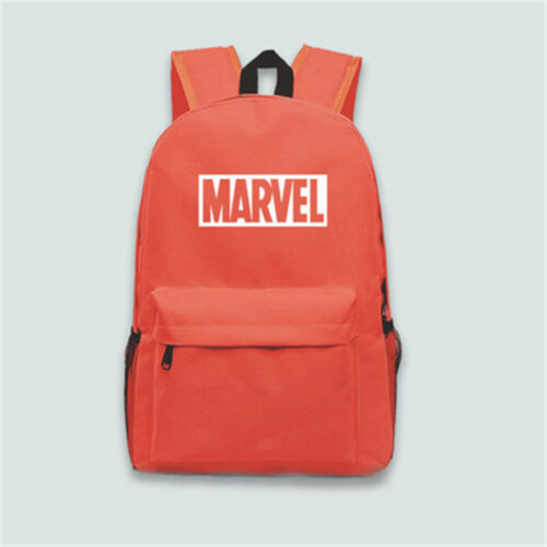 Movie MARVEL Logo Bag Canvas Backpack Travel Bag Shoulder Bag Backpack