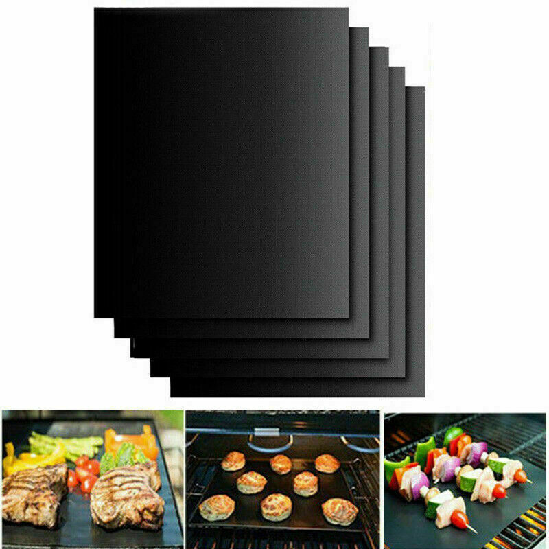 1/2/5 BBQ Grill Mat Reusable Sheet Resistant Non-Stick Barbecue Bake Meat