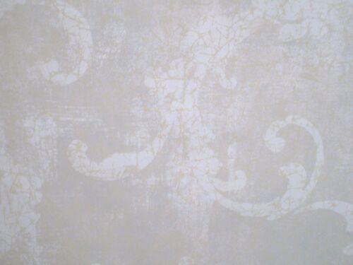 Gold /& Cream Metallic Damask by York  255859 Penelope Tan Silver