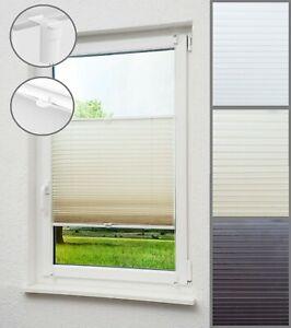 Dachfensterrollo Plissee Jalousie ohne Bohren Faltstore Klemmfix blickdicht Tür