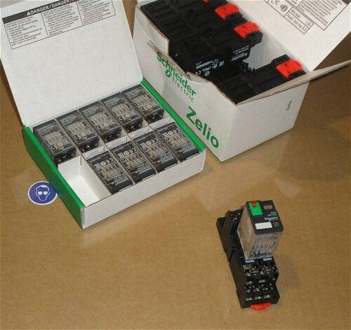 SdfkPlakette Sockel RXZE2M114 Relais 230V AC 4xUM Schneider Electric RXM4GB2P7