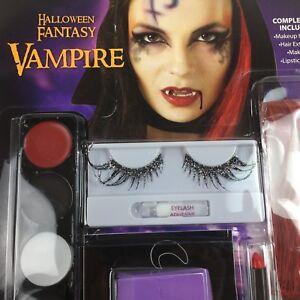 c39949da1ba Image is loading Halloween-Fantasy-Vampire-Makeup-Kit-Glitter-Eyelashes-Red-