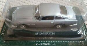 Aston-MARTIN-DB5-in-argento-1-43-SCALA-DIECAST-MODELLO-AUTO-CLASSICA
