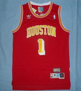 pretty nice b2a44 4c741 Details about Houston Rockets Tracy McGrady red Hardwood Classic Jersey  Size S M L XL XXL