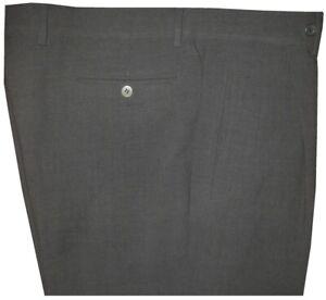 MINT-PREOWNED-GIORGIO-ARMANI-BLACK-LABEL-CREPE-WOOL-GREEN-CHAR-DRESS-PANTS-36-37