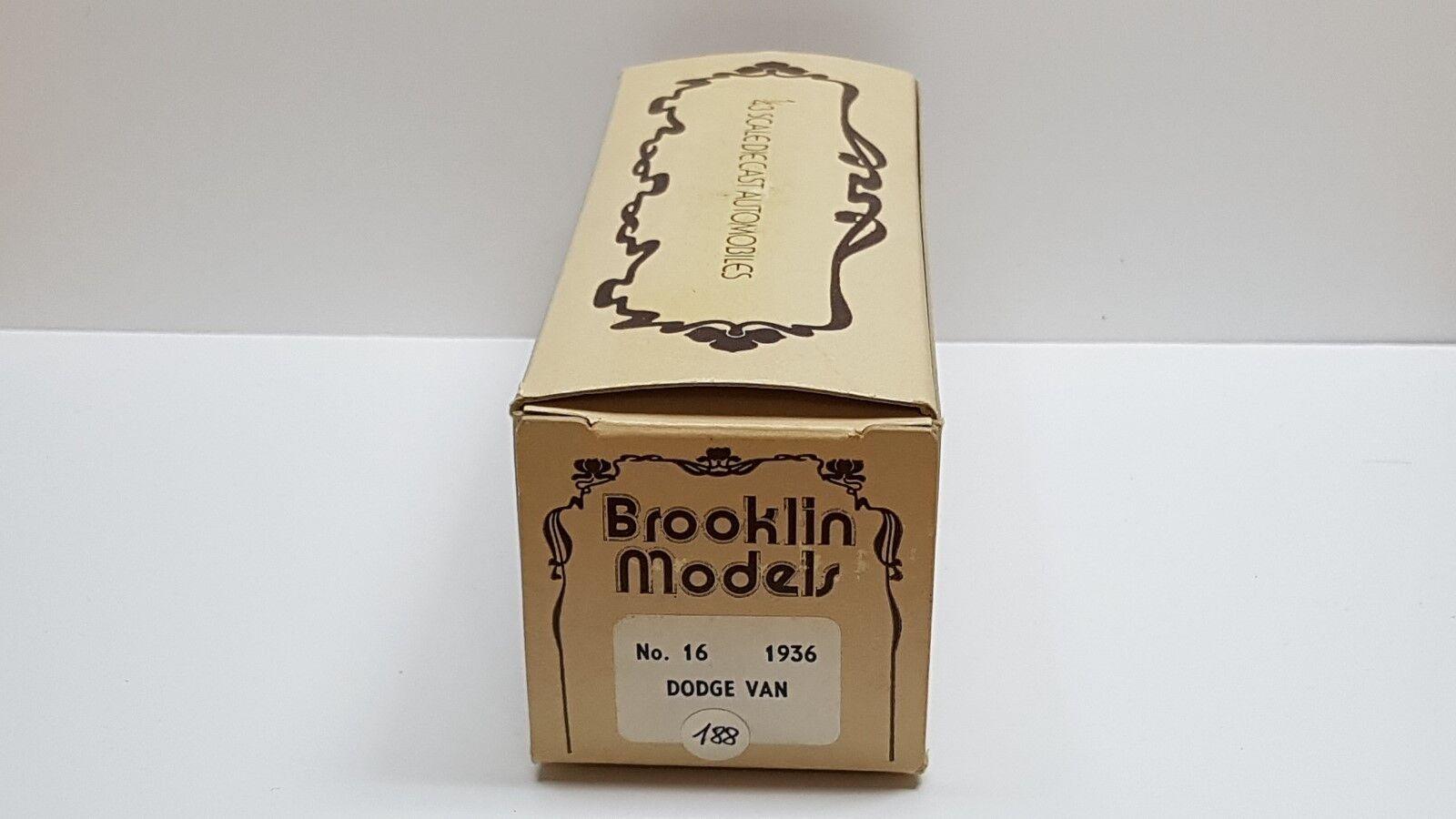 DODGE DODGE DODGE VAN 1936 BROOKLIN MODELS BRK.16 1 43 N  AMR 1371a4