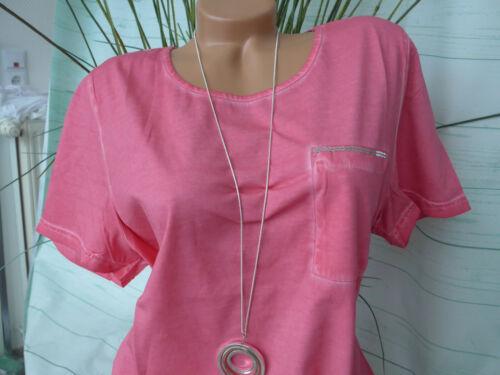 266 Sheego Shirt Tunique Femmes Taille 44//46 à 56//58 corail manches courtes Oil Wash NEUF
