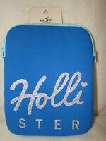 Hollister Tablet/ I Pad / Kindle, Sleeve Case,blue Script Hollister On Front,nwt