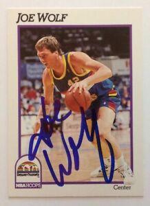 Joe Wolf 1991 Hoops Hand Signed Card Denver Nuggets