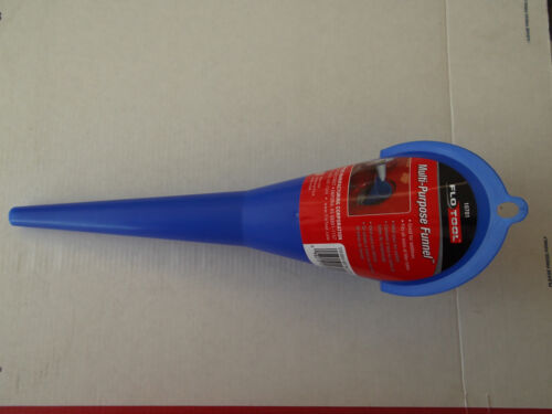 Car Auto Blue Plastic Gas Oil Transmission Water Fuel Funnel Automobile USA