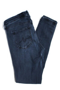 AG-Adriano-Goldschmied-Womens-Skinny-Slim-Mid-Rise-Jeans-Pants-Cotton-Size-27