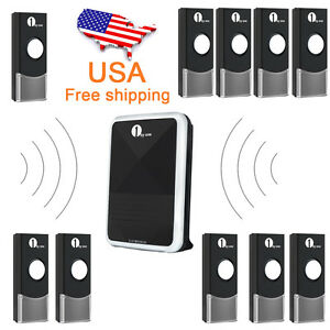 Wireless-Battery-Portable-Digital-DoorBell-Chime-Waterproof-Remote-Control-LED