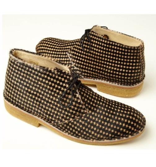 YMC Houndstooth Desert Boots-& con 10-RRP -è necessario creare-Nuovo con Boots-& Scatola 8cc241