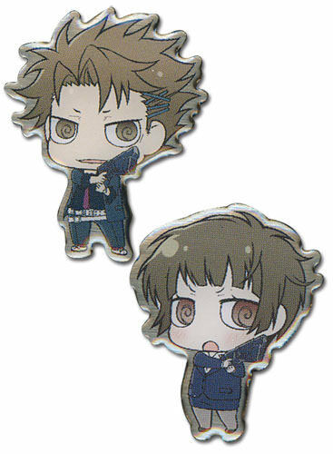 Psycho Pass Kagari /& Akane Metal Pin Set