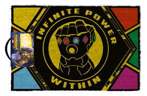 Officiel-Marvel-Avengers-Infinity-guerre-Paillasson-100-coco-caoutchouc-porte-arriere-tapis