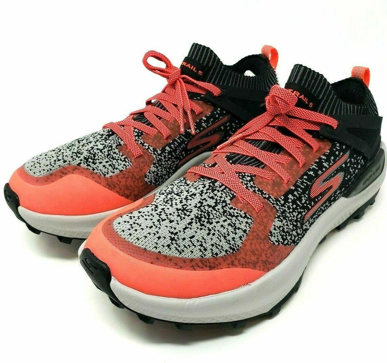 zapatillas skechers mujer running naranja 90