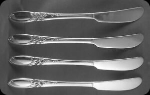 Community-White-Orchid-6-1-4-034-Flat-Butter-Knives-FOUR-2-sets-of-4-avail