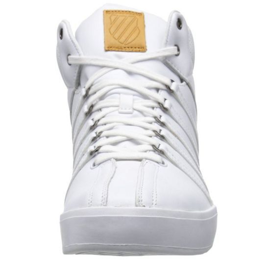 K-SWISS 03251-183 (M) THE CLASSIC II Mn's (M) 03251-183 Weiß/Weiß Leder Mid-Top Casual 7eed60