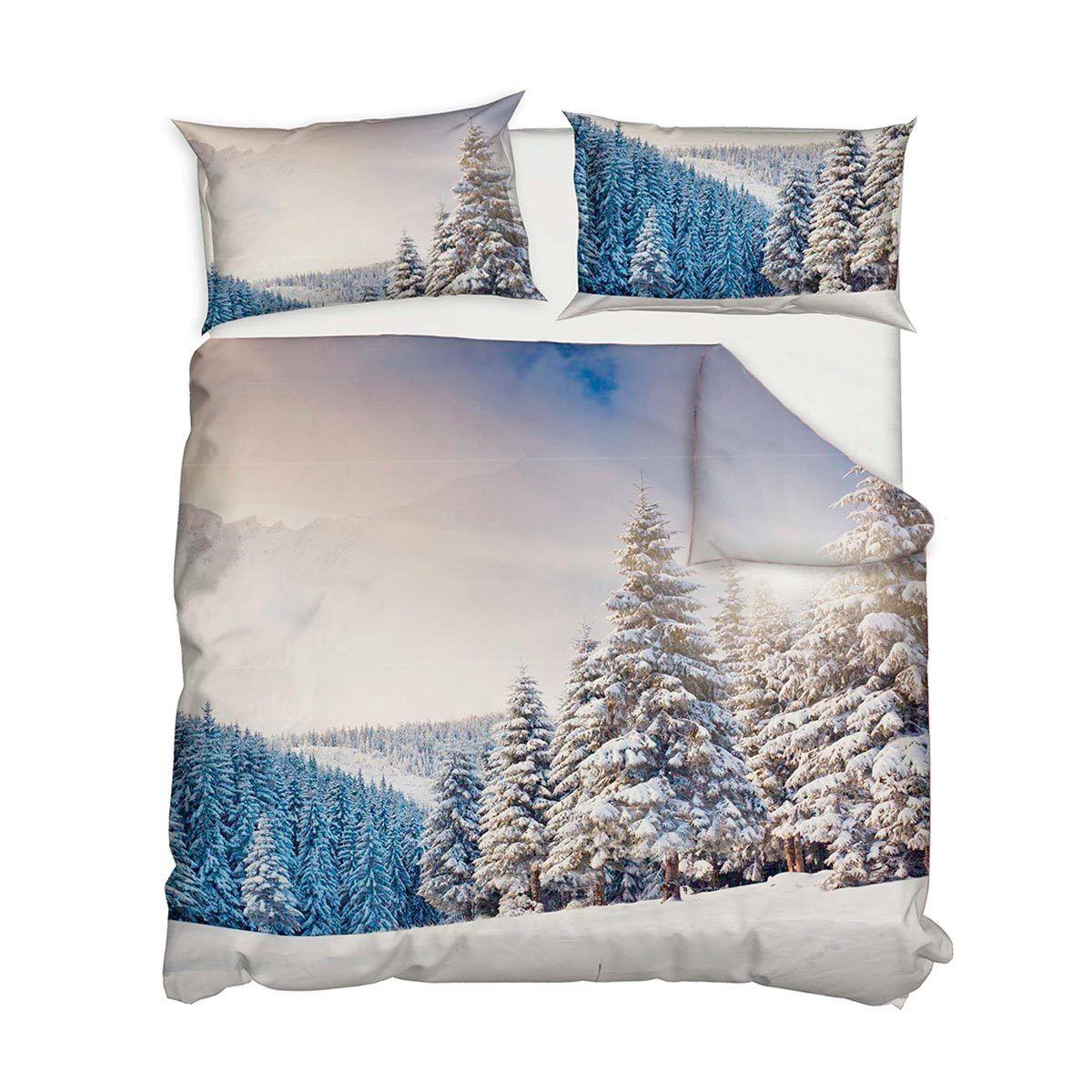 Parure copripiumino Winter di Daunex digitale per letto Matrimoniale R592