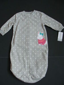 NWT Carter's Baby Girls Fleece Sleep Sack 0-9 m Infant Winter Pajamas Bag Dots
