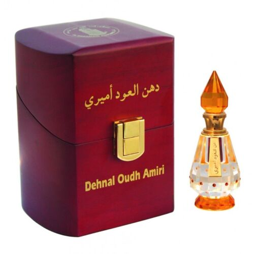 Dehnal Oudh Amiri 3ml by AlHaramain Agarwood Oil Attar High Quality Exclusive