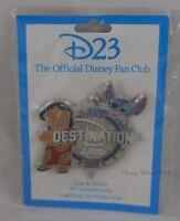 New Disney D23 Destination D Lilo & Stitch 10th Anniversary Pin LE 1500 Rare