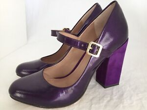 VINCE-CAMUTO-Vionet-Purple-Patent-Leather-Mary-Jane-Heels-Shoes-Size-6-M