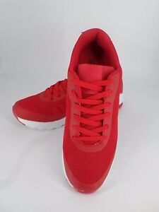 Mens Red Running Trainers UK 8.5 EU 43 LN09 31