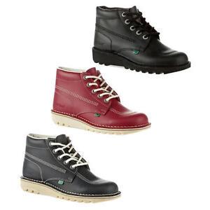Zapatos-De-Cuero-Kickers-Kick-Hi-M-Para-hombre-Core-Negro-Rojo-Azul-Tobillo-Botas-Talla-6-11