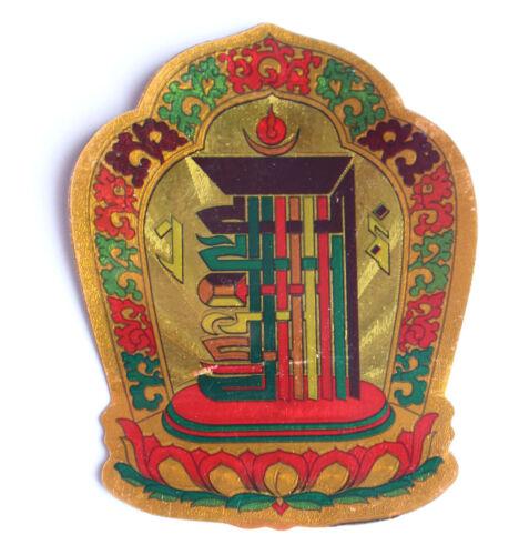 glass Tibetan Deity Stickers for Windows cars