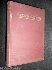 Alice; or the Mysteries by Rt Hon Lord Lytton - c1894 Victorian Novel/Fiction