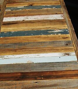 Charmant Image Is Loading Huge Reclaimed 84X28 BARNWOOD Table Top Bar Urban