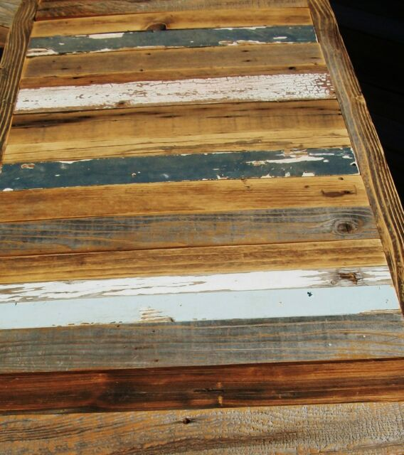 Huge Reclaimed 84X28 BARNWOOD Table Top Bar Urban Chic Rustic Restaurant  Buffet