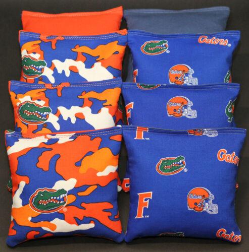 CORNHOLE BEAN BAGS made w University FLORIDA GATORS 8 ACA Reg Corn Toss Bags