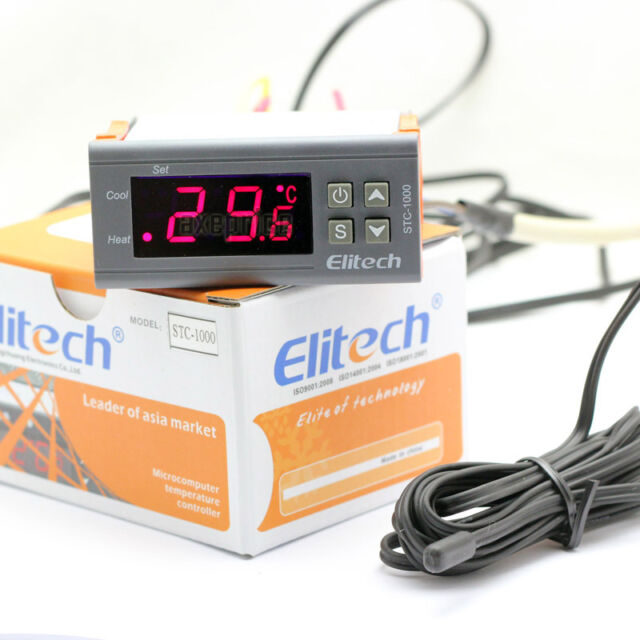 220-240V Digital Temperature Controller NTC Probe Thermostat 2 Relays STC-1000