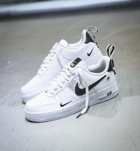 énorme réduction 1d8c2 1a06e Details about NIKE AIR FORCE 1 ONE UTILITY LOW UK US 7 8 8.5 9 10 11 12  WHITE 07 LV8 ALL SIZES