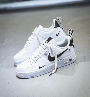 chaussures de séparation 16d7a 74ade NIKE AIR FORCE 1 ONE UTILITY LOW UK US 7 8 8.5 9 10 11 12 WHITE 07 LV8 ALL  SIZES | eBay