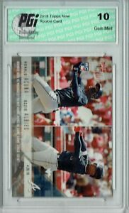 Ronald Acuna Ozzie Albies 2018 Topps Now #130 2,711 Made Rookie Card PGI 10