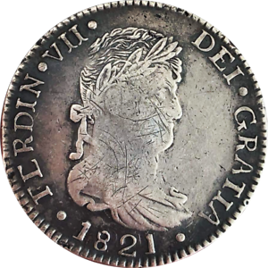 Durango 8 Reales 1821 CG KM# 111.2 War Of Independence RARE!