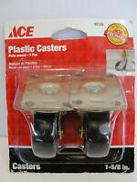 Ace 1-5/8 Plate Mount Plastic Casters, 51131