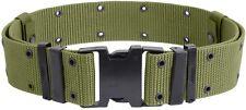 Medium OD Green Military Marine-Army- Nylon Quick Release Pistol Web Belt 9077