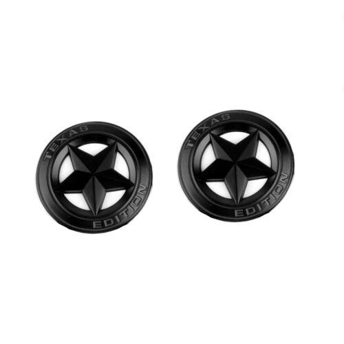 2x OEM Black Texas Edition Emblem Badge 3D Silveraod fits Chevy L